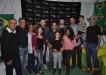 Cúpola do governo de Lajinha recepcionando os cantores Leonardo de Freitas e Fabiano