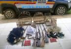 armas de fogo, redes, munições e materiais de pesca de uso proibido
